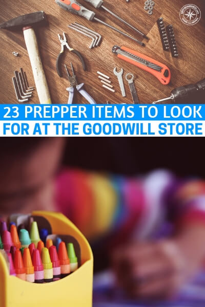 23 Prepper Items To Look For at the Goodwill Store - Here are some things I've seen at the Goodwill Store: tools, blankets, candles, hunting gear, cast iron pans, camping supplies, canning equipment, and much more. For more ideas, check out this list of prepper items to look for at Goodwill.