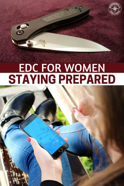 EDC for Women – Staying Prepared - Women are well equipped to have an EDC kit in plain sight since most carry purses. Stashing a few extra prepping, survival, and security items in your purse could help you out when you need it most.
