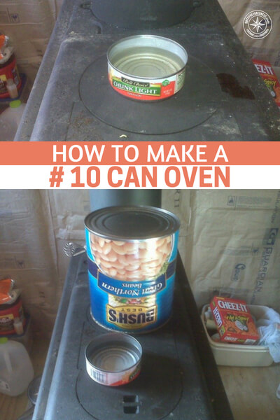 How to Make a # 10 Can Oven - This is a simple DIY article that may change the way you look at the things in your food storage pantry. Did you even know you could make a #10 can into an oven? Well, at the end of the day, you can turn anything into something you need if you understand how it works and what you need.