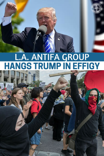 L.A. Antifa Group Hangs Trump in Effigy, Calls for 'Revolutionary Violence' Against 'the Capitalist State' - Perhaps the most depressing thing about all of this is that these people are not locked away for a long time. Where is DHS, where is the FBI? As we watch the world literally tilt towards a civil war the government agencies that are sworn to protect us seem to be quiet in all of this.