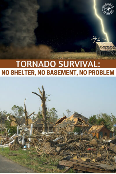 Tornado Survival: No Shelter, No Basement, No Problem - This is a great little article that offers up some answers to the threat of a tornado. What is most fascinating about the article is that it offers answers to people who do not have access to a basement or a storm shelter.
