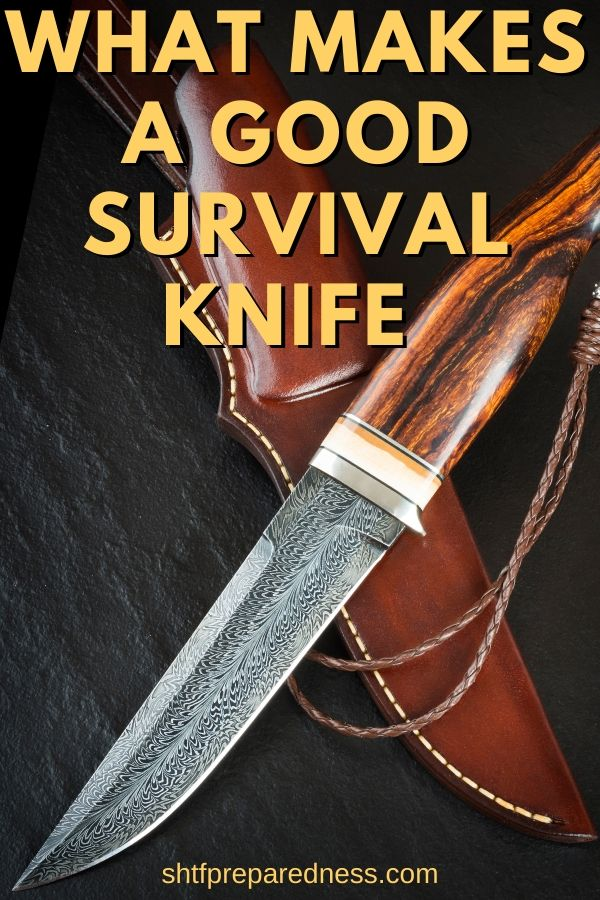 What makes a good survival knife: see 5 important features for your hunting knife. #survivalknife #survival #preparedness #shtf