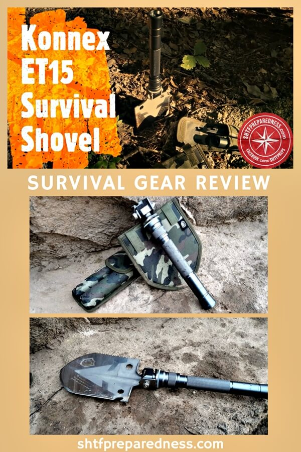 The Konnex ET15 Survival Shovel is a very impressive collection of 15 different helpful tools that will be critical for your survival plans.