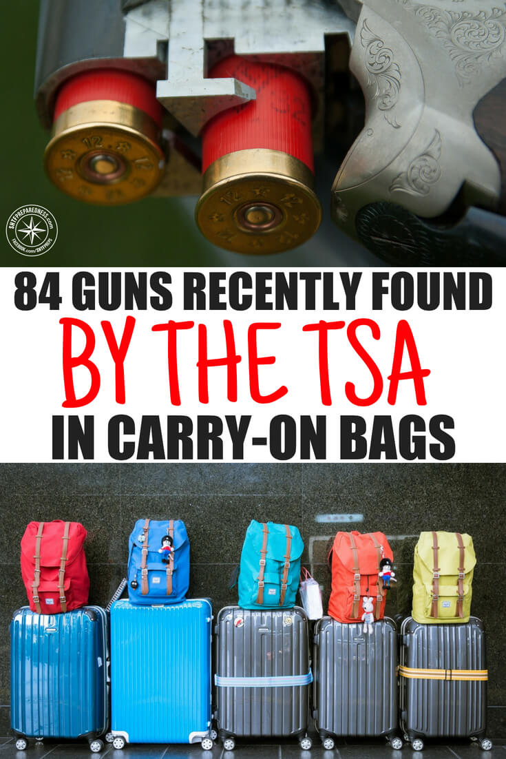 84 Guns Recently Found By the TSA in Carry-On Bags -- Have you ever wondered what types of guns the people around you are carrying. If you are careful you can pretty simply notice when someone is carrying. Most people don't notice but people are carrying guns all around them.