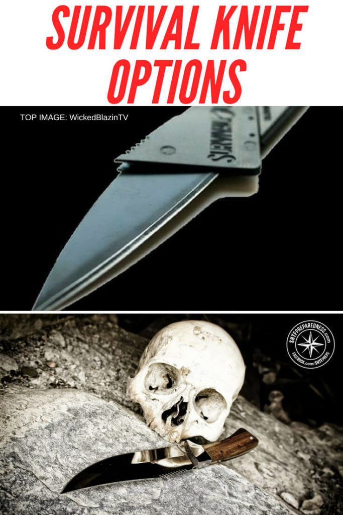 Survival Knife Options -- Are you aware of all the various types of knife blades on the market? There are a lot of designs to choose from. One thing is for sure, if you are going to count on a single tool for survival you are going to look towards the full tang survival knife.#prepping #preparedness #prepper #survival #shtf #selfsufficient #survivalgear #gear #survivalgearreview