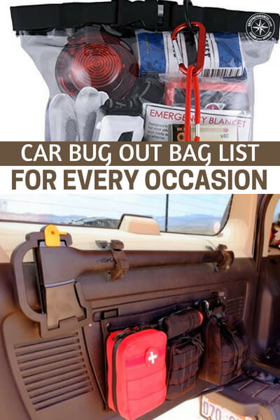 Car Bug Out Bag List For Every Occasion - This article offers an interesting solution to the issue of bugging out from the car or the work place. Its all about car bugout bag list options for every occasion.