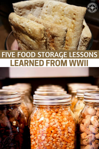 Five Food Storage Lessons Learned from WWII - This article focuses on the food storage lessons that could be learned from WWII. During this time resources were limited and people had to struggle along with the soldiers. That is a decidedly different look than war fighting in the modern age.