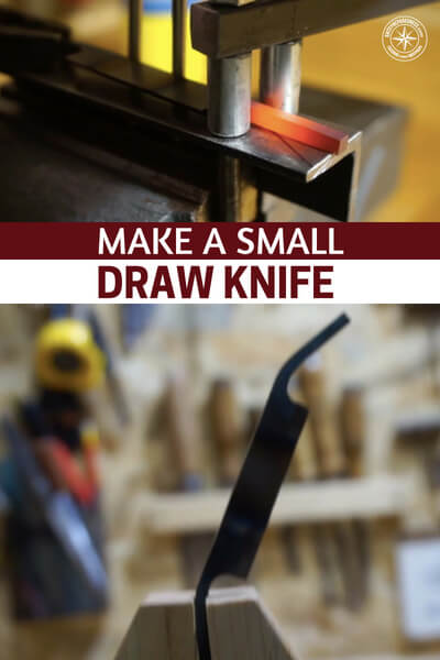 Make a Small Draw Knife - This article is about create one simple tool, in particular. The draw knife gives you the ability to create all sorts of things. I will help you level off wood for certain projects. This draw knife is also a great tool for crafting a primitive bow to hunt with.