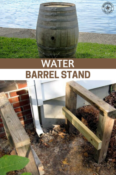 Water Barrel Stand - Now you might just be left to manage your own water barrel and water collection efforts. We aren't talking about a tremendous task but a functional water barrel stand can make a big difference. This article is about a build for just one such stand.