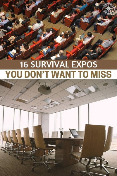 16 Survival Expos You Don't Want to Miss - The time has come for you to start exploring these survival expos. Most cost $10 to get into and you will get exponential value from attending a few classes. This article is a list of the survival expos that are worth your time across the nation.