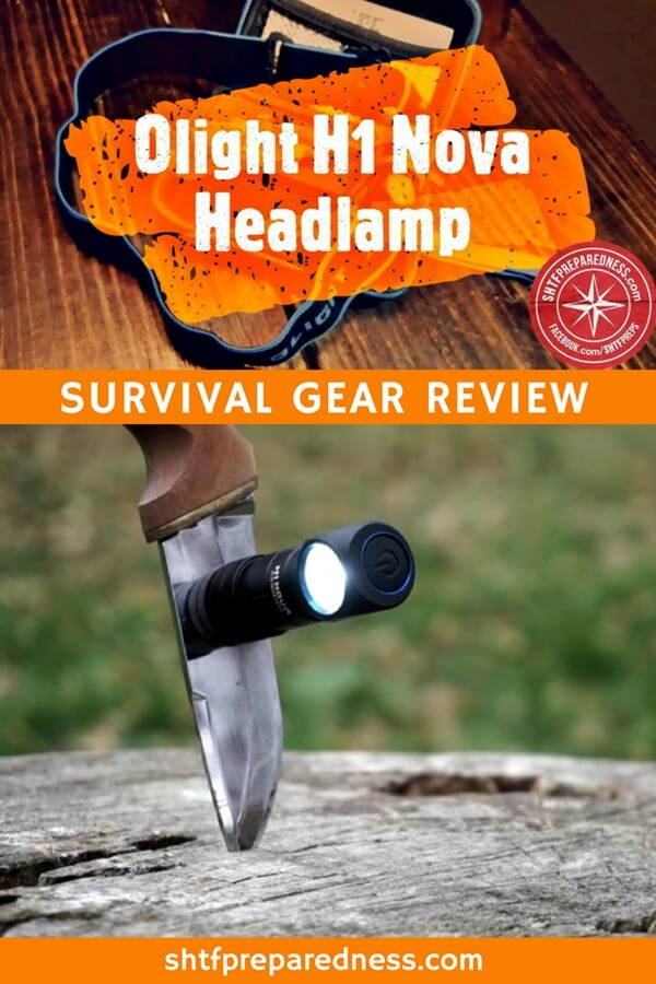 Olight H1 Nova Survival Flashlight and Headlamp Review - The Olight H1 Nova is a flashlight and fully functional headlamp with 7 unique settings. It's the perfect item for a prepper, surivalist or outdoorsman.