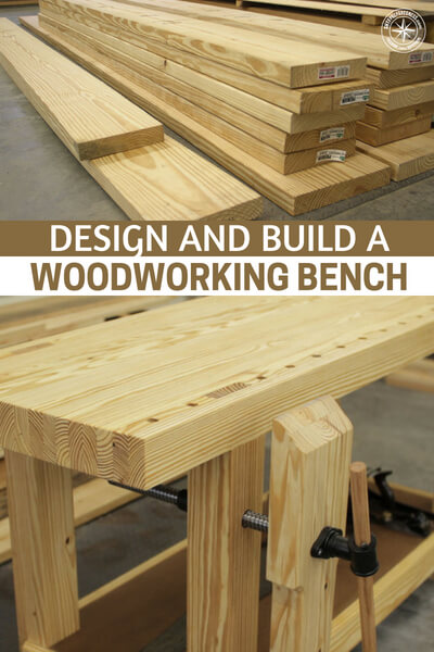 Design and Build a Woodworking Bench - This is an article about building a work bench. You see, a work bench gives your endeavors a home and that is an important thing to have. It gives you a place to work on projects and store tools.