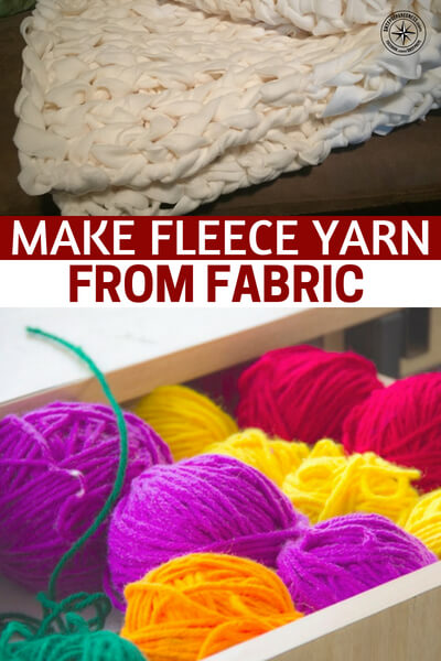 Make Fleece Yarn from Fabric - This is a very cool method that will allow you to turn fabrics into fleece yarn. Beyond that it will also give you a grip on how to take scraps of cloth and turn them into a material you can use to make clothing.