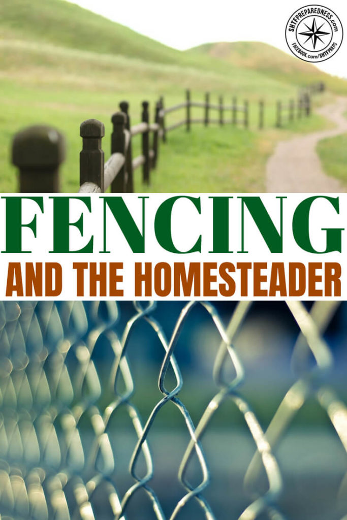 Fencing and the Homesteader -- Fencing around the home may seem like an ideal choice for the average homeowner. You can keep your dog and children in the yard safely and make a burglar think twice about hitting your home. It can also keep your gardens separate from the recreational area or to keep your dog from peeing on the azaleas. #security #homesteading #shtf #survival