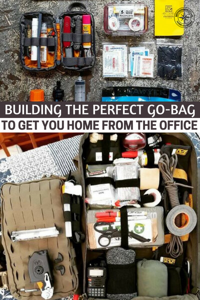 Building the Perfect Go-Bag to Get You Home From the Office - This is a great article about building that perfect get home bag and being ready to arrive when your family fears for the worst. Be prepared no matter where you are.