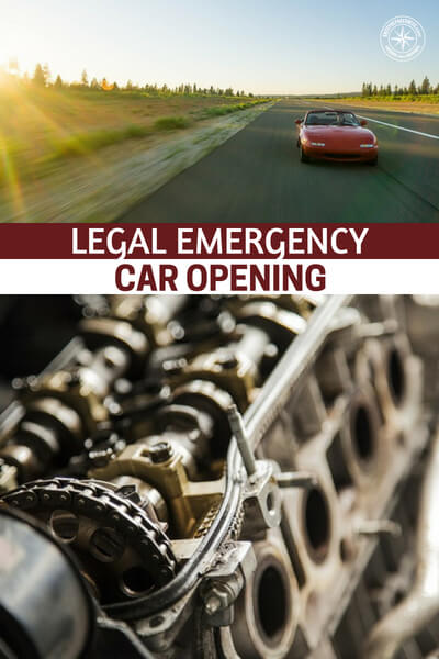 Legal Emergency Car Opening - This is a great look at how to get into your car in an emergency. You will find legal ways to get into cars when things are going bad. Remember, you will need all the resources you can muster to survive a serious disaster. Getting away from the disaster is always going to be your best bet.