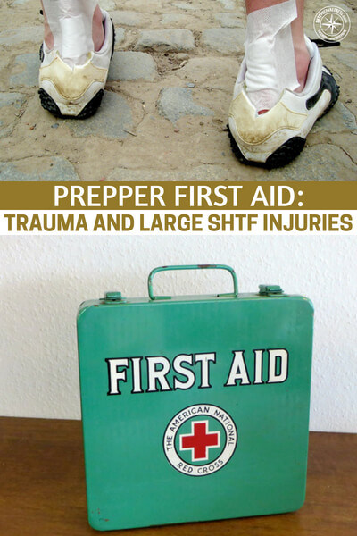 Prepper First Aid: Trauma and Large SHTF Injuries - This is a great look at prepper first aid through article and podcast. There is one thing you should be conscious of. Its the idea that you are going to need true practice as well. The best way to do this is by taking your free local training course through CERT.