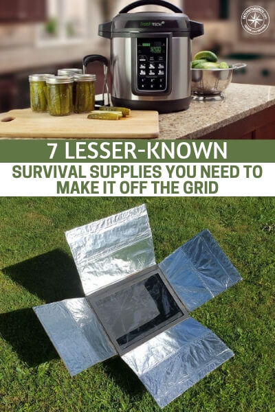 7 Lesser-Known Survival Supplies You Need to Make It Off the Grid - This is a great little article about 7 lesser known survival supplies you need to make it off the grid. When we talk about dealing with long term power outages you are going to need something like a generator or other off grid tools to manage that outage. Once you begin to dominate the playing field of energy, it feels very powerful.