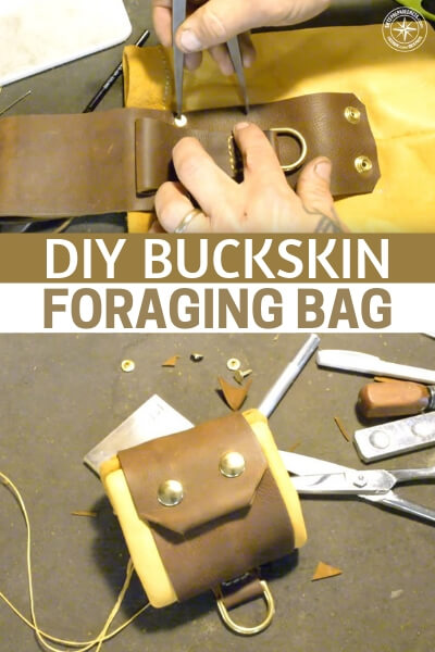 DIY Buckskin Foraging Bag - Do you know how to work with deerskin to create things like shoes or clothing. Deer skin has been used as clothing for a very long time. This means it will be effective in an emergency as well!