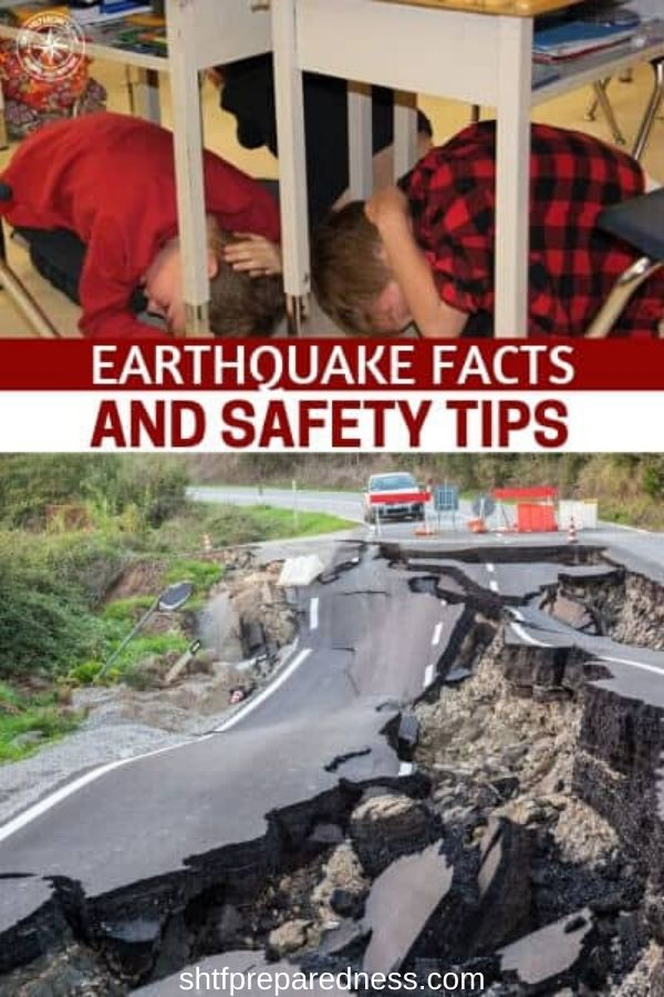 Here are some earthquake facts and tips you and must be familiar with, that will help give you a better chance to survive a major earthquake. #survival #preparedness #earthquake #earthquaketips #shtf