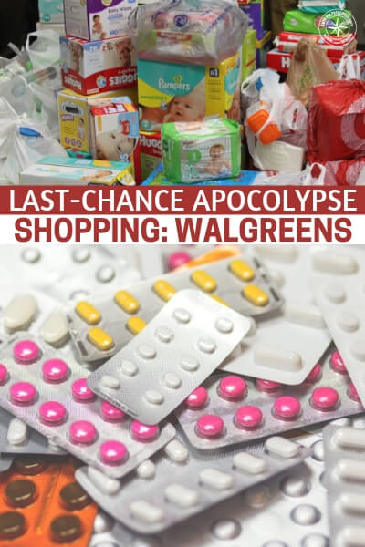 Last-Chance Apocolypse Shopping: Walgreens - This article is written by one of the best survival bloggers out there. It brings you a resource that is not often explored and that is, whats available after time has run out. Where can you scour survival products in the most common of places. Take this information and create a small list of the stores that are local to you.