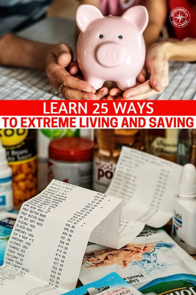 Learn 25 Ways to Extreme Living and Saving - This is a great article that offers up a number of things that will tell you all about having a poverty mindset and learning 25 ways to extreme living and saving. Its not going to be easy but you are going to get a good look at what it will take to get that next egg saved up.