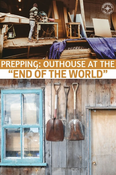 "Prepping: Outhouse at the ""End of the World"" - Nothing induces disase and infection the way waste does. That is why articles like this one are so important. You realize that managing your bodily fluids is going to take a serious amount of work and forethought."