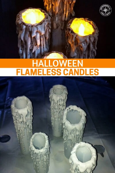Halloween Flameless Candles - This is a wonderful little look at how you can be effective in creating new and terrifying decorations for your home this Halloween. So many people think they are not creative or do not have the ability to make something like this.