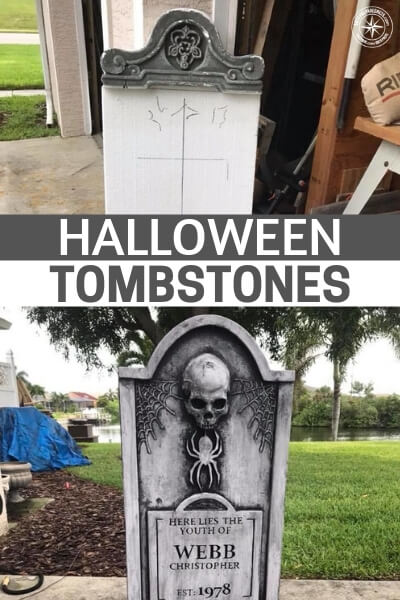Halloween Tombstones! - This article is about creating your own tombstones. Lets face it, nothing creates the ambience of Halloween like a terrifying  cemetery on the premises. Its down right spooky. As you mull over whether this build is for you or not I want you to consider one thing in particular and that is the fact that we are not to scare the children too much!