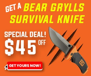 Get a Bear Grylls Survival Knife for $45 off!