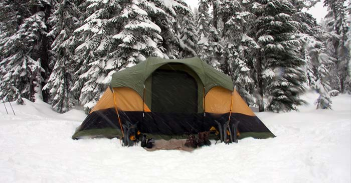Camping in the Winter - There are all sorts of ways to make it through a tough night of winter camping. Of course, it all comes down to a basic understanding of how heat moves and the importance of insulation.
