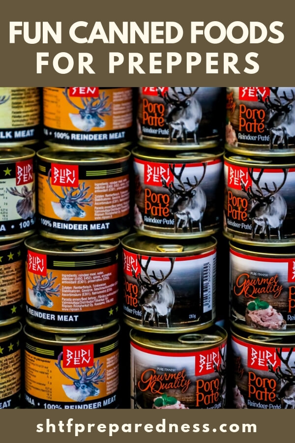 While many people think about things like canned peas and corn, there are some very interesting buys out there for preppers.