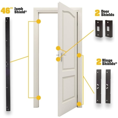 Door Armor MAX Combo Set — Complete Door Reinforcement Set For Jamb, Frame, Strike Plate — DIY Home Door Security
