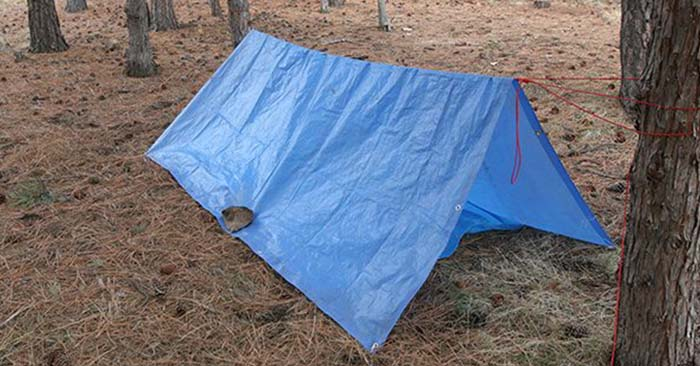 quick tarp shelter