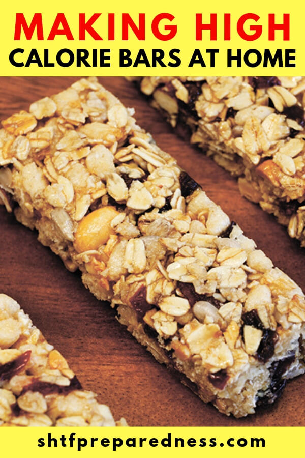 What is the point of making these high-calorie bars? Well, you are going to want to use these when you are hiking or in a disaster.