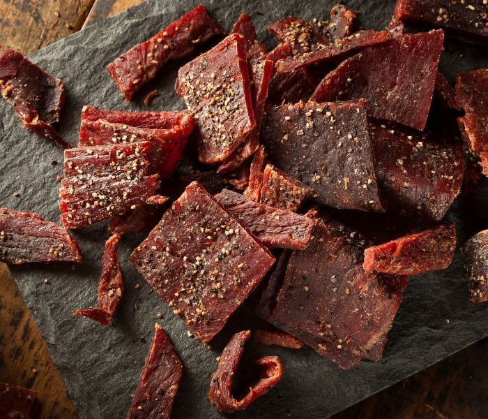 Pieces of delicious jerky
