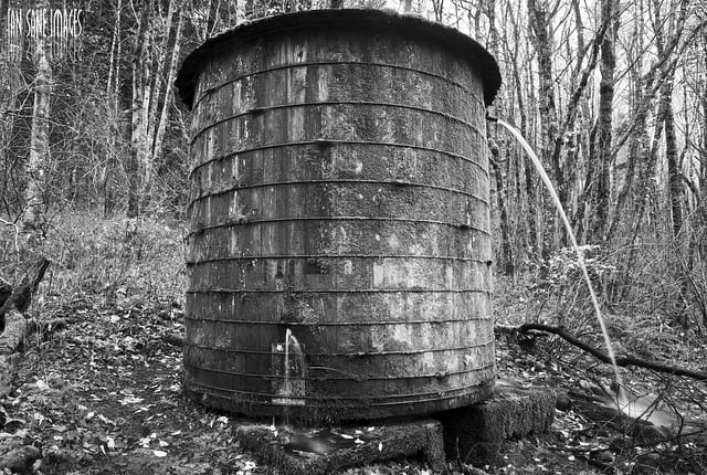 Old water barrel