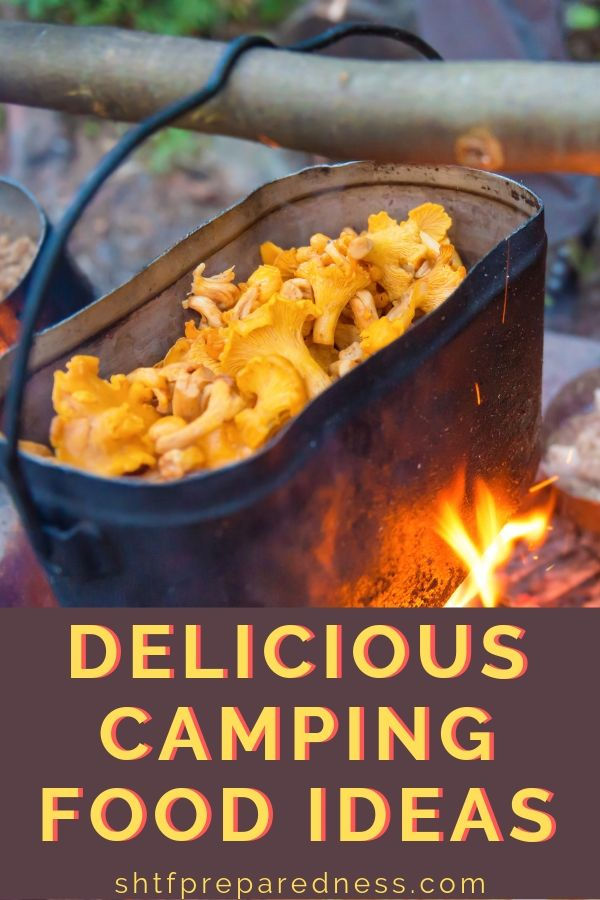 Here are some delicious camping food ideas and recipes you should try next time you're on a camping adventure. #camping #campingfood #campingrecipes #campingideas #shtf #prepredness #survival