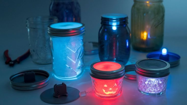 LED Mason Jar Lanterns