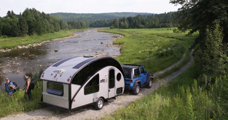 Compact Teardrop Trailer Transforms into a Large Family Off Grid Camper
