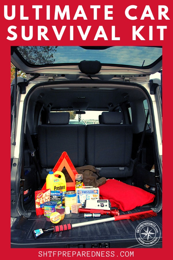Be prepared for the unavoidable with a car survival kit, whether it's black ice, snow, a breakdown or an accident.