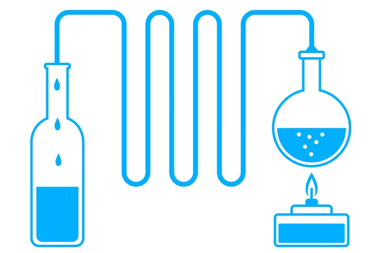 distill water by boiling it to collect the steam for a clean water source