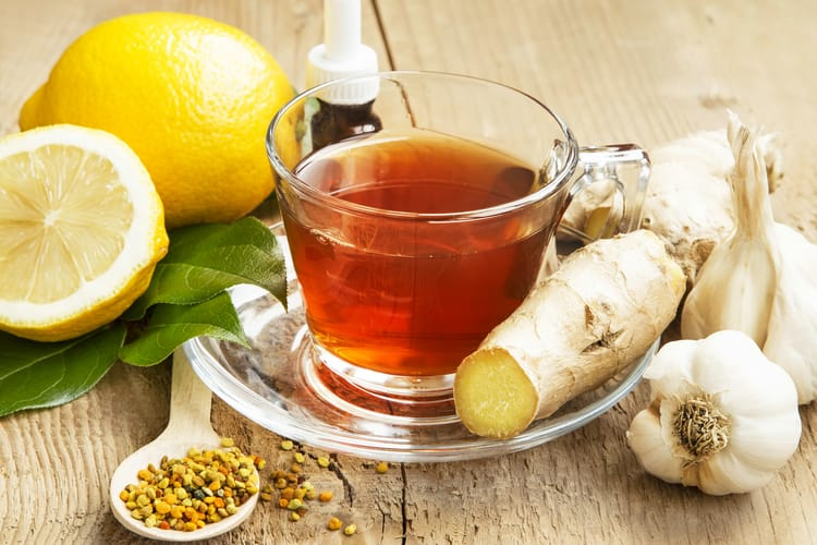 Home remedies for fever using garlic and ginger tea