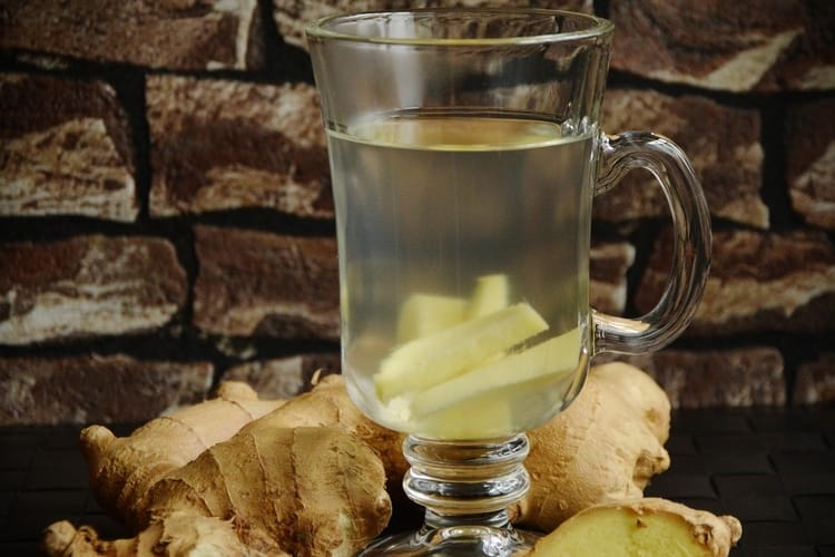 Cold and flu home remedy - ginger tea