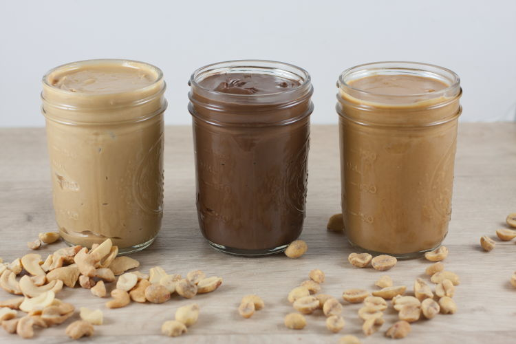 Nut butters as butter substitutes