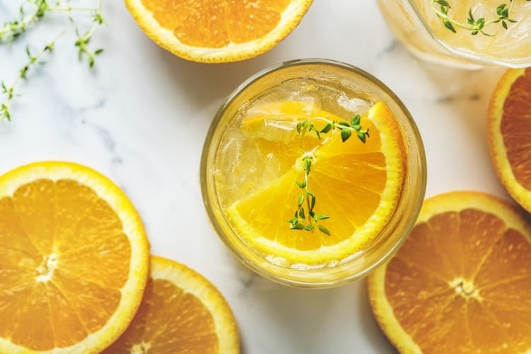 Orange detox drink for vitamin C