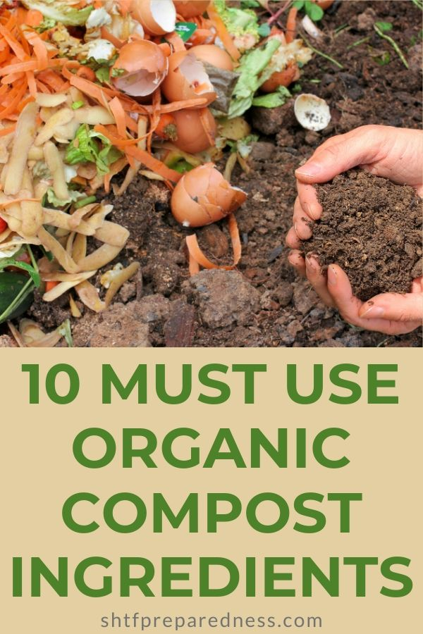 Start your compost pile with the right organic compost ingredients, and you'll enjoy strong and healthy plants in your garden. #compost #organiccompost #gardening #homesteading #preparedness #organicmatter