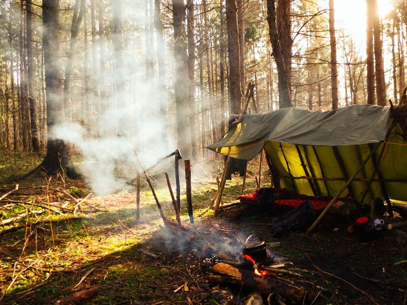Knowing how to build a shelter outdoors is a critical survival skill