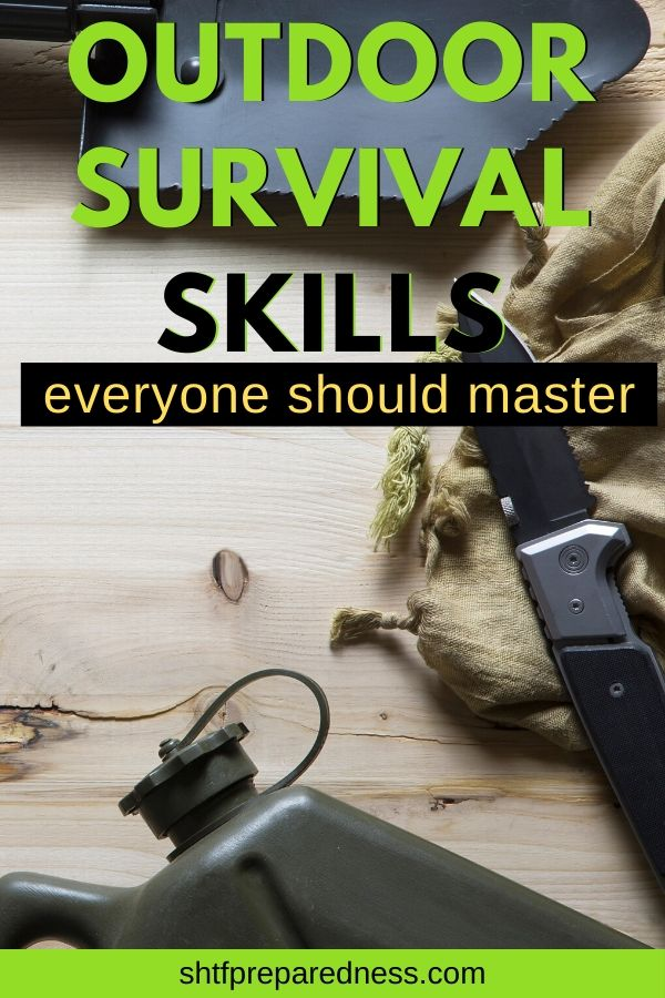 Check out these 12 outdoor survival skills you need to know if you plan to spend time camping or hiking in the wilderness. #survival #survivalskills #camping #preparedness #survivaltips #shtf