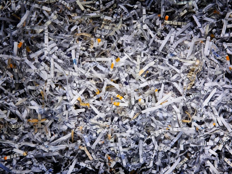 Shredded newspapers can provide a nice texture to compost